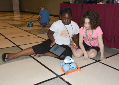 Children discover new love for robots at camp