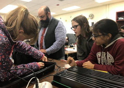 Students use STEM concepts in space garden prototype